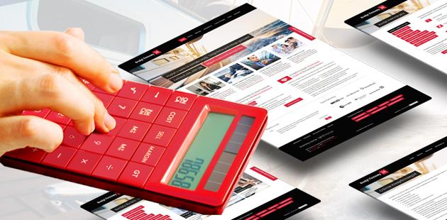 projekt strony internetowej z kredytami dla firm