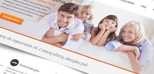 projekt i wdrożenie strony www agencji ubezpieczeń