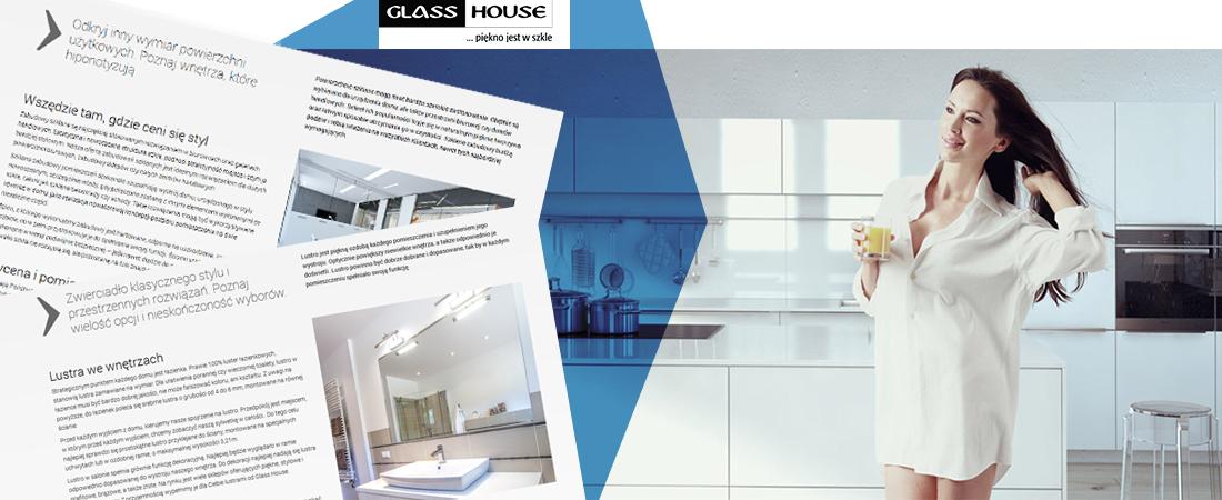 Projekt strony Glass House