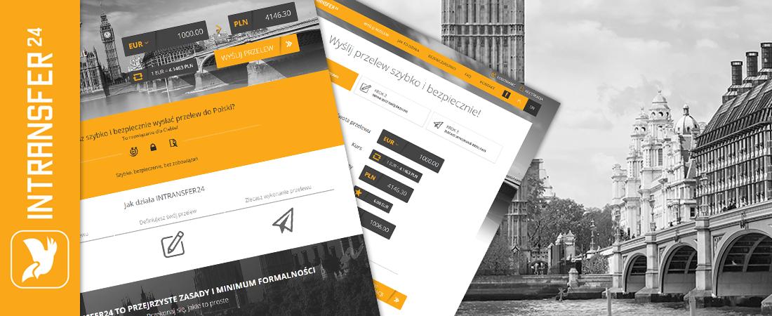 Intransfer24 - projekt i wdrożenie serwisu www