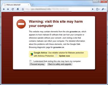 Zabezpieczenia Chrome