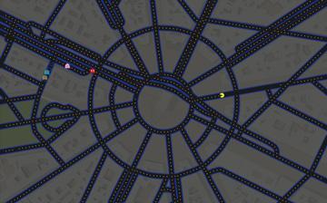 Google Maps zamienione w grę Pac-Man