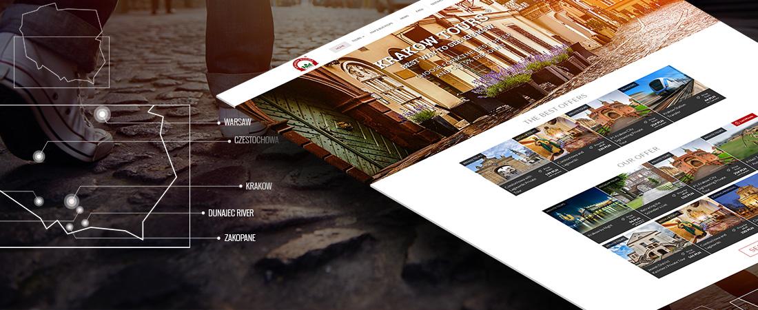 Projektowanie stron www Krakow - Projekt Krakow Tours