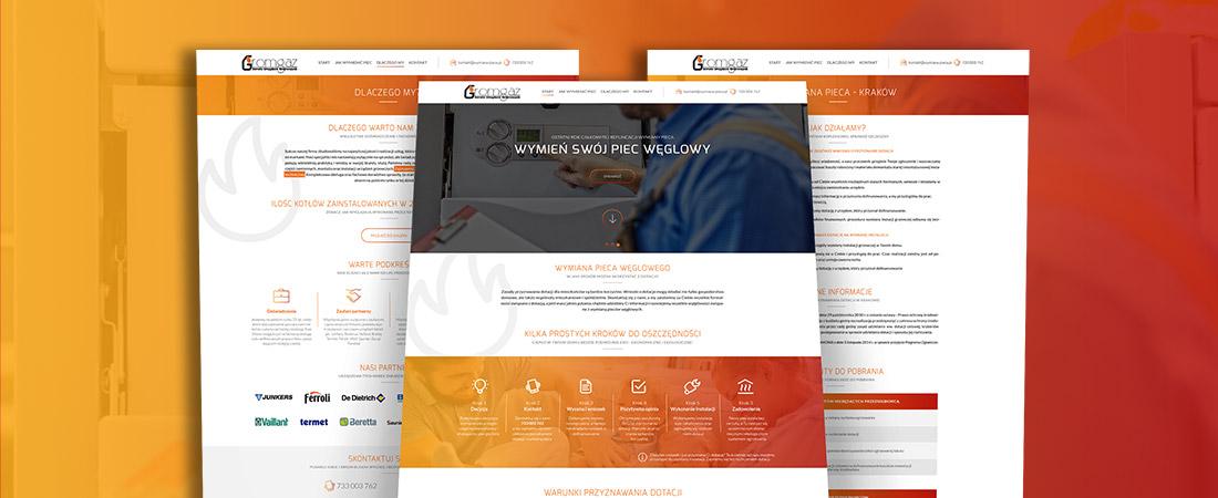 Projektowanie stron www - Wymiana-pieca.pl