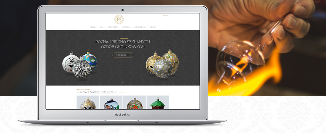 Projekt strony www - RS Handmade