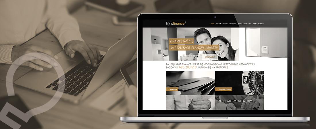 Light Finance - projekt strony www